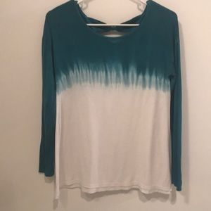 Girls knit top with cutout detail